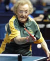 British granny, Dorothy de Low 95, is the oldest competitor at the World Veteran Table Tennis Championships in Bremen, northern Germany /EuroPics